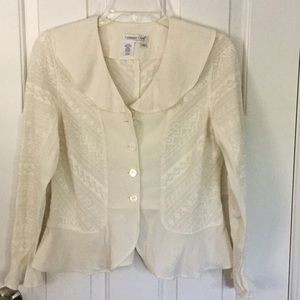 Coldwater creek short blouse in cream